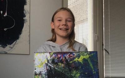 Puu Kekkonen voitti lasten sarjan yleisöäänestyksen – nimimerkin takaa paljastuu 12-vuotias poika, joka myy maalauksiaan