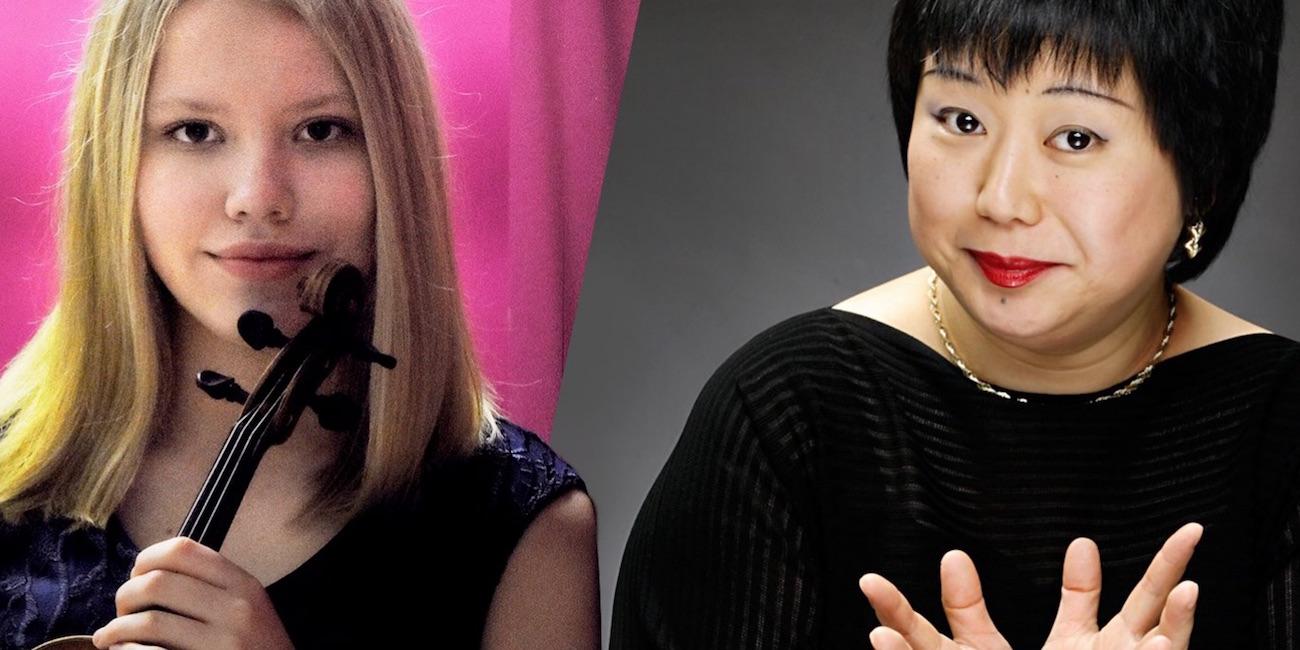 Viulisti Iidamari Ahonen ja pianisti Naoko Shibayama-Aarnio.