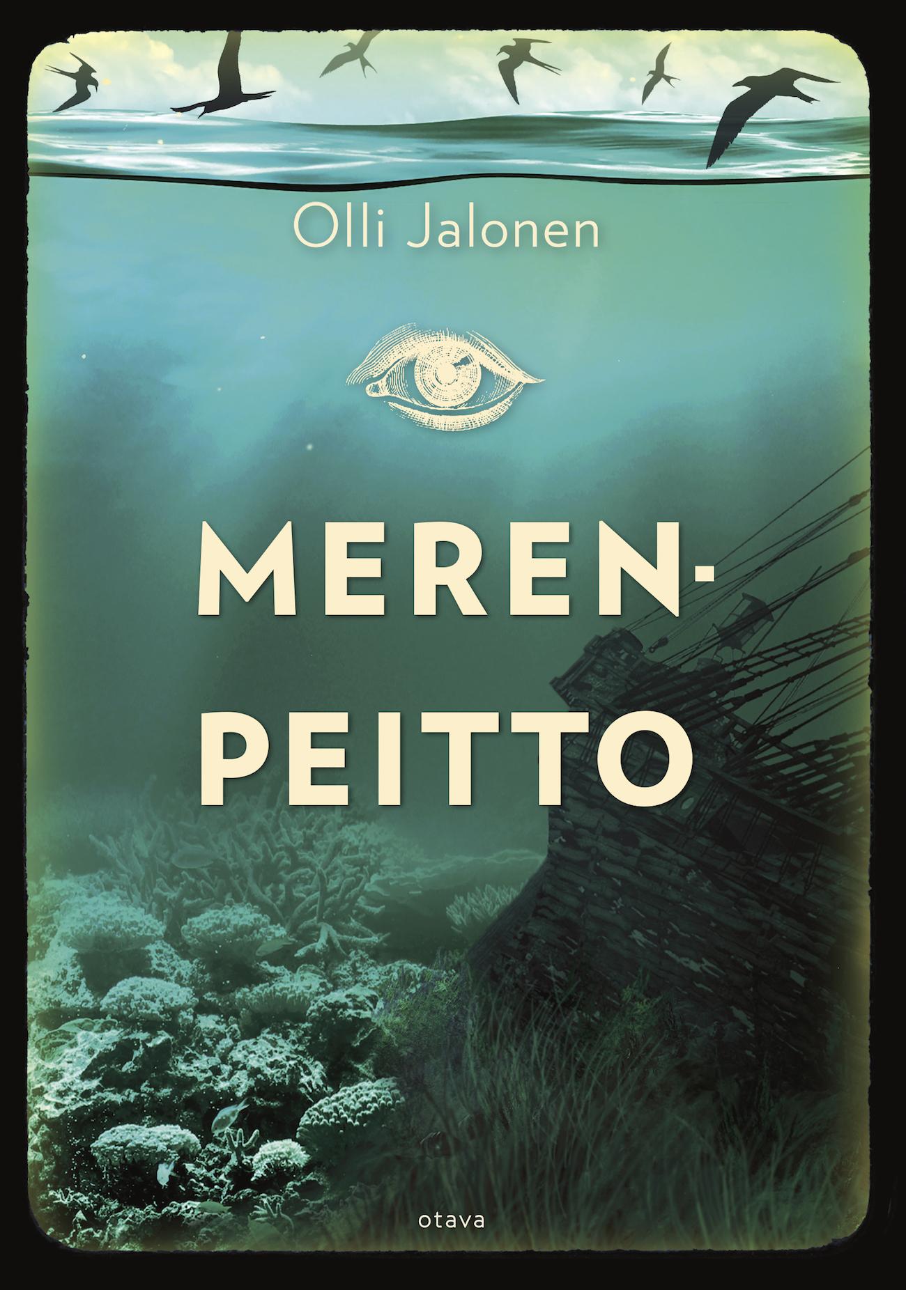 Olli Jalosen Merenpeitto-romaanin kansikuva.