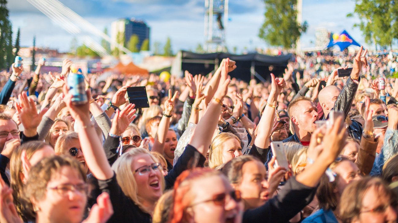 Tammerfestin yleisöä vuodelta 2017.