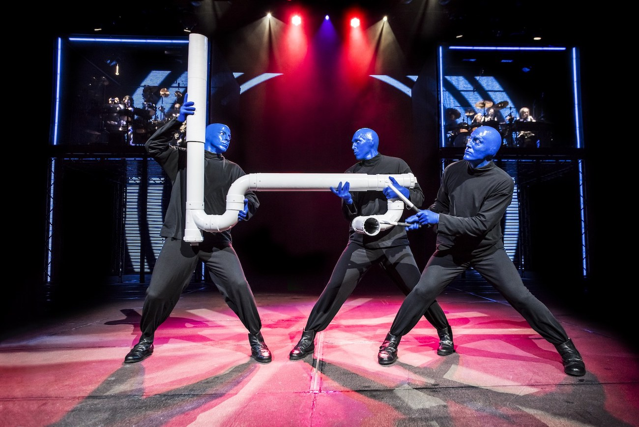 The Blue Man Groupin esityskuva.