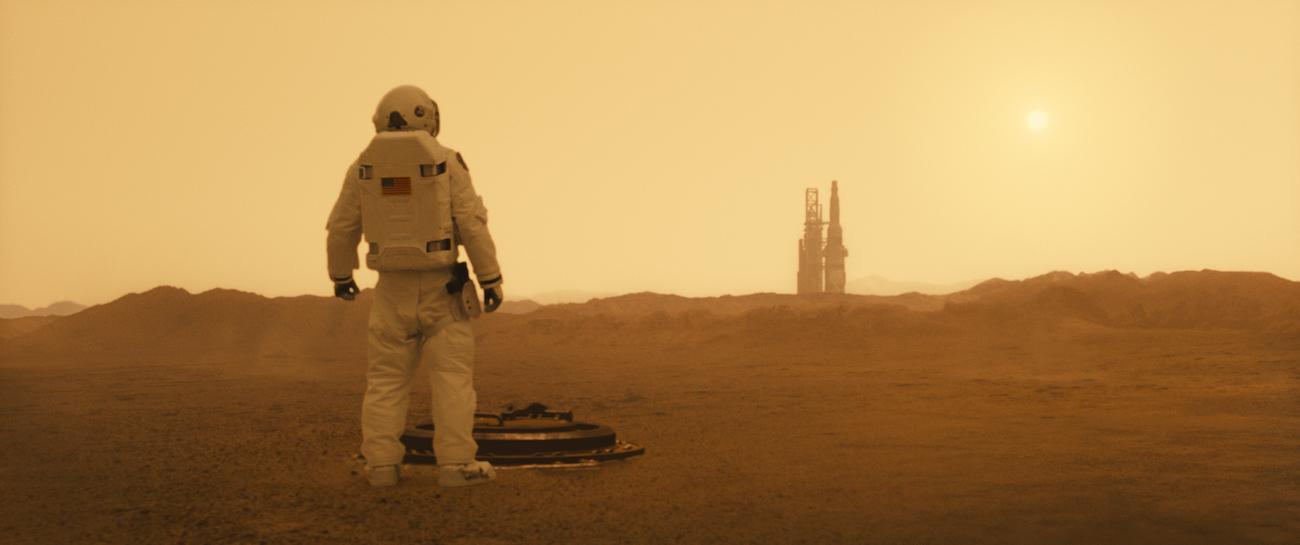 Brad Pitt Mars-planeetalla.