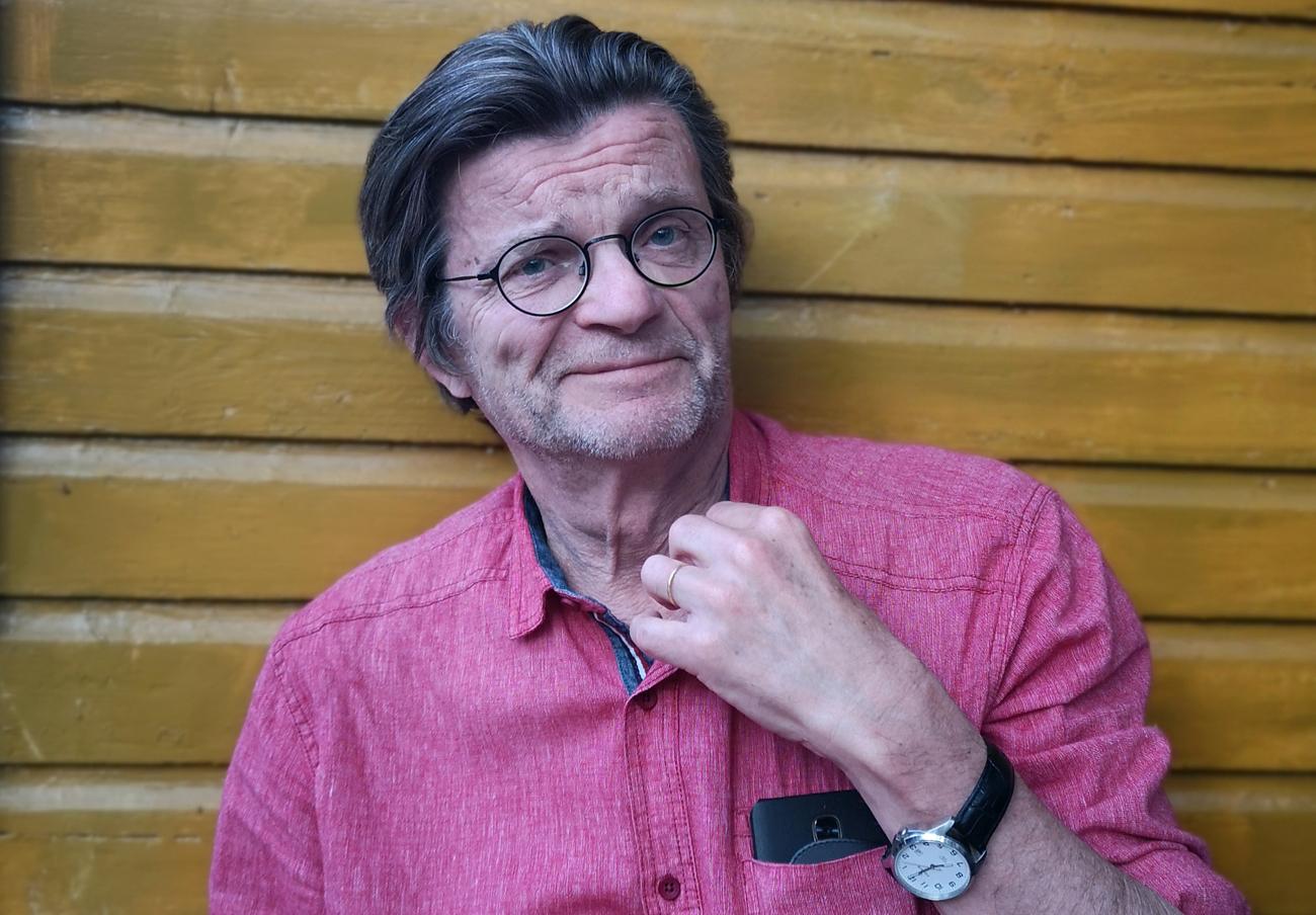 Kirjailija, runoilija ja historiantutkija Timo Malmi.