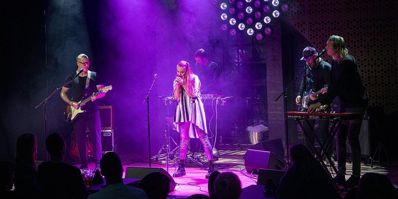 M-yhtye esiintyy Tampereen G Livelabissa.