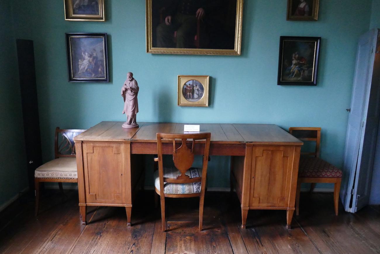 Työhuone Goethen kotimuseossa.