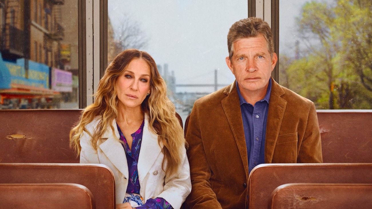 Sarah Jessica Parker ja Thomas Haden Church televisiosarjassa Divorce.
