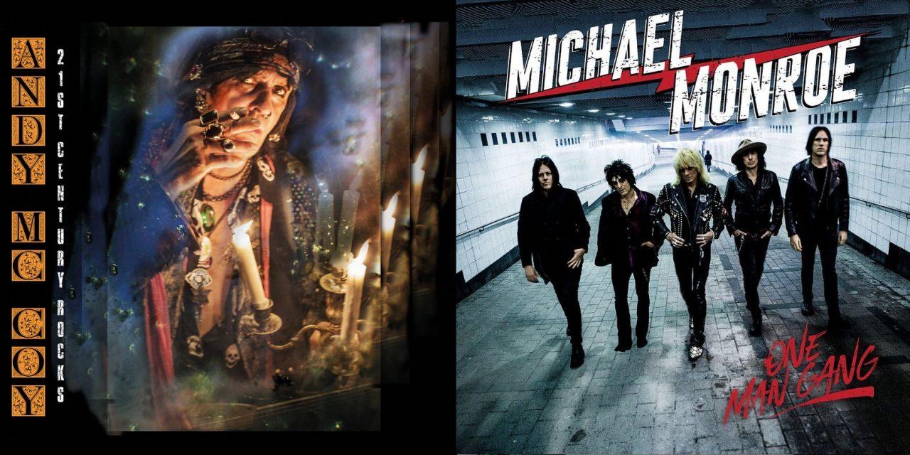 Hanoi Rocksin kukkojen soololevyt syksyltä 2019 – Michael Monroe ja Andy McCoy rokkaavat tutulla otteella