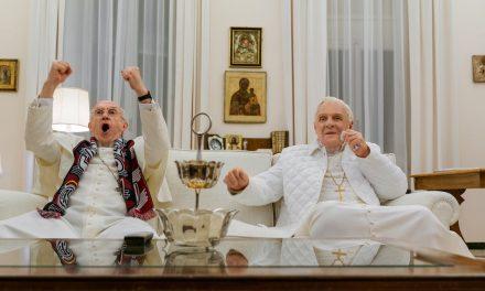 Kaksi paavia ja katumuksen alkeet – Anthony Hopkins ja Jonathan Pryce hassuttelevat maallistuvina kirkonisinä