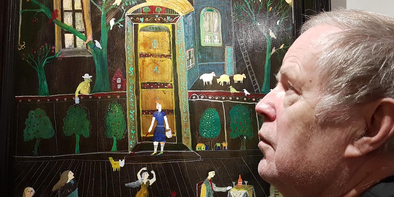 Tapio Parkkinen tuntee maalatessaan tataari-isoisänsä kosketuksen – näyttely Tampereen Ravintola Henrik'sissä