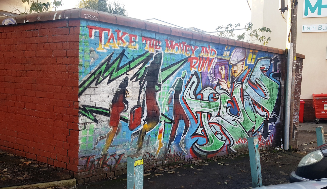 3 Take The Money And Run Graffitied Over Since Restored