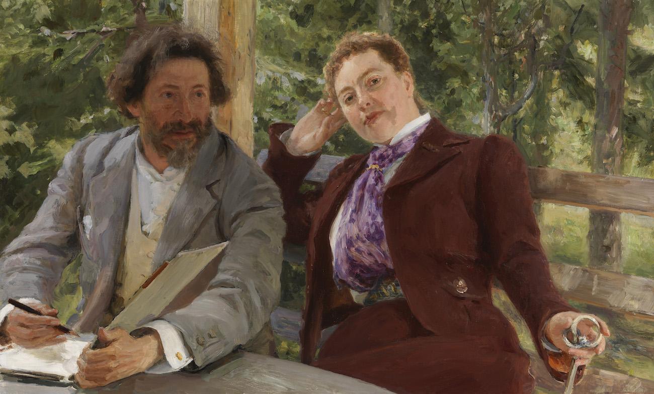 6328 ilya repin double portrait of nordmann and repin