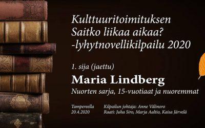 Lyhytnovelli: Jumissa labyrintissä (Maria Lindberg, nuorten sarjan ensimmäinen sija)