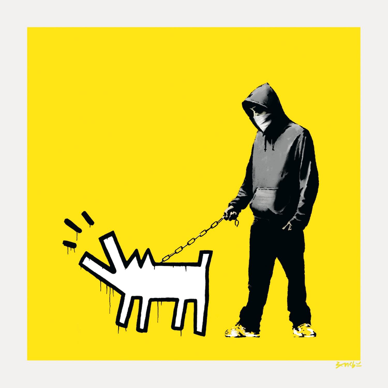 Banksy Choose your weapon lemon yellow