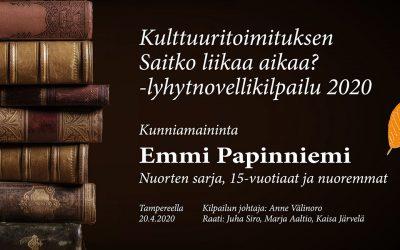 Lyhytnovelli: Yhteys (Emmi Papinniemi, nuorten sarjan kunniamaininta)