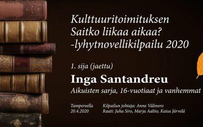 Lyhytnovelli: Purokarma (Inga Santandreu, aikuisten sarjan ensimmäinen sija)