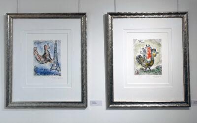 Marc Chagall – kahdeksan vuosikymmenen taiteilija lumoaa Sastamalan Taidepappilan Kivinavetassa