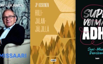 Kevät 2021, kotimainen tietokirjallisuus – ainakin nämä 209 kirjaa julkaistaan