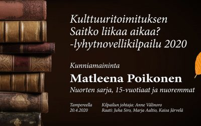 Lyhytnovelli: Kirjoitan (Matleena Poikonen, nuorten sarjan kunniamaininta)
