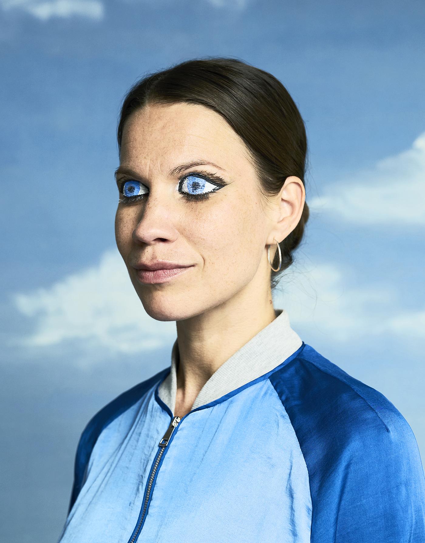 Portrait with blue eyes 2019 Vilma PimenoffforKT