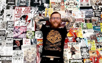 Pääkalloja erilaisilla tekniikoilla – Ville Angervuori on löytänyt paikkansa punk-designin kaanonissa