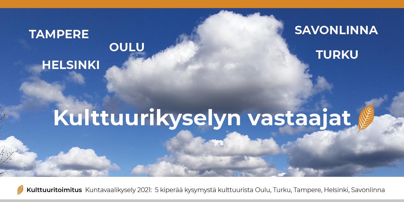 Kuntavaalit: Tarkista, onko ehdokkaasi Kulttuuritoimituksen Kohti vaaleja! -kyselyyn vastanneiden listalla